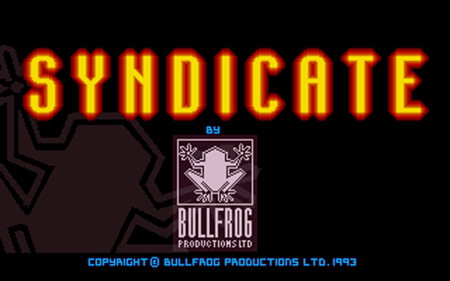Syndicate Title Screen