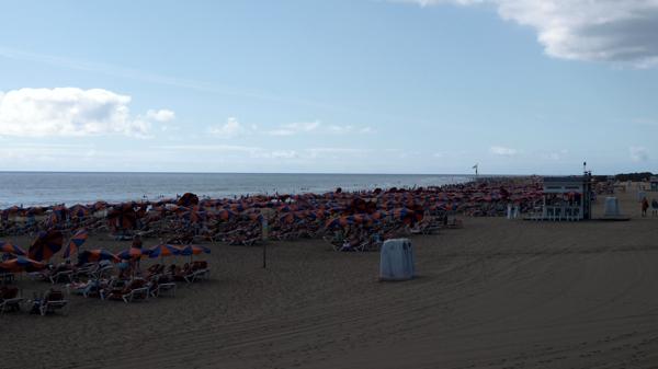 Der überlaufene Playa del Inlés