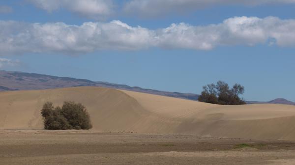 Vorn die Dünen, Hinten die ersten Gebirgsausläufer